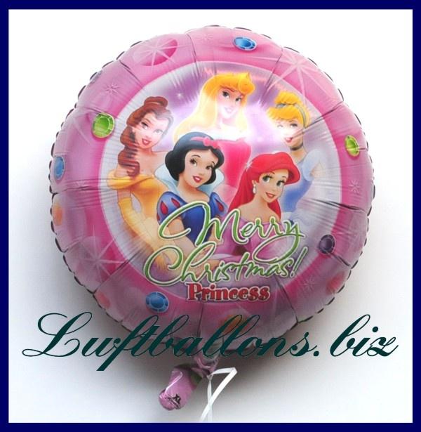luftballon weihnachten disney princess merry christmas