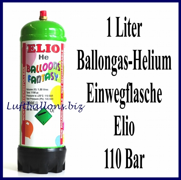 helium einwegflasche 1 liter heliumgas ballongas lu helium bombolina einweg flasche he ew lt. Black Bedroom Furniture Sets. Home Design Ideas