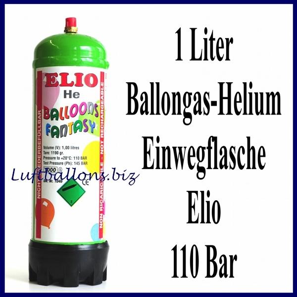 Heliumflasche, Heliumgas, 1 Liter, Ballongas