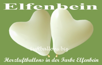 elfenbeinfarbene Herzluftballons