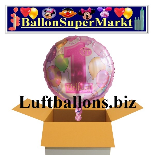 partydekoration zum 1 geburtstag folien luftballon zahl. Black Bedroom Furniture Sets. Home Design Ideas