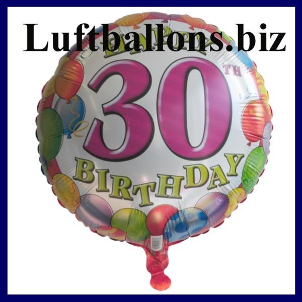 Folien-Luftballon zum 30. Geburtstag