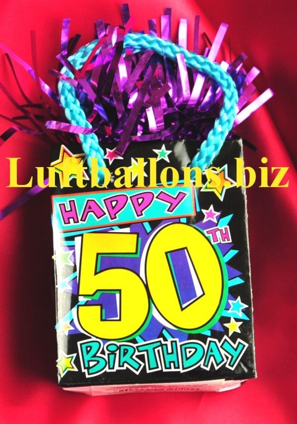 Geburtstag Dekoration Ballongewicht Zum 50 Geburtstag Lu