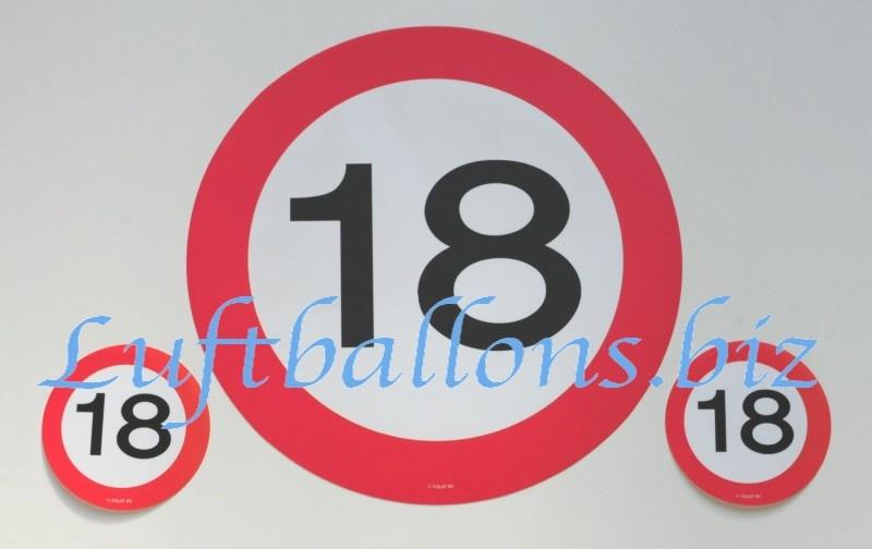 Geburtstag tischdekoration untersetzer set zum 18 for Dekoration zum 18 geburtstag
