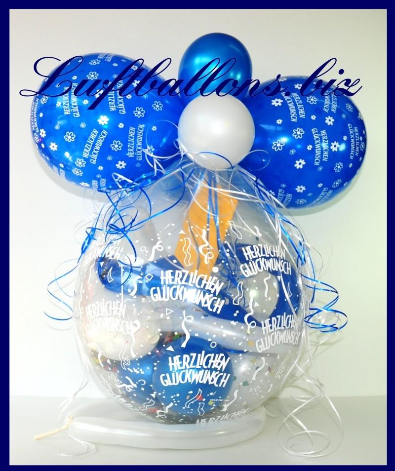 geschenkballon luftballon zum verpacken von geschenken herzlichen gl ckwunsch lu. Black Bedroom Furniture Sets. Home Design Ideas