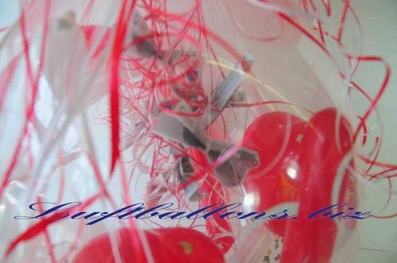 Geld im Geschenkballon, Geld zur Hochzeit schenken im Verpackungsballon