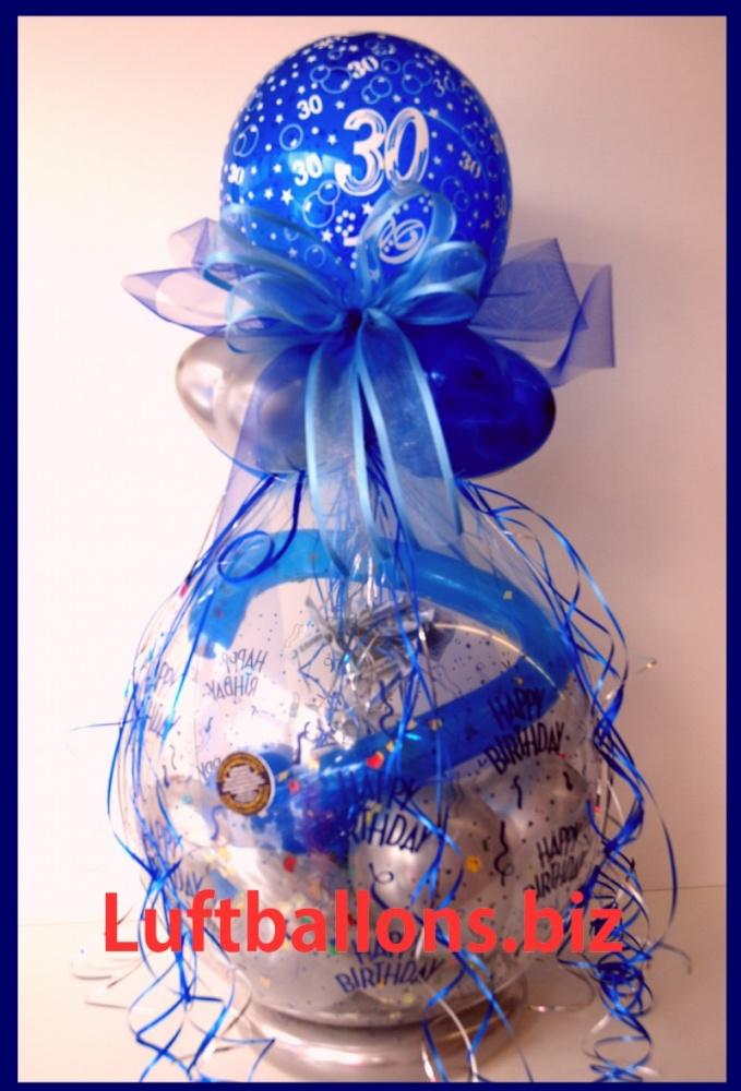 geschenkballon luftballon zum verpacken von geschenken zum 30 geburtstag lu geschenkverpackung. Black Bedroom Furniture Sets. Home Design Ideas