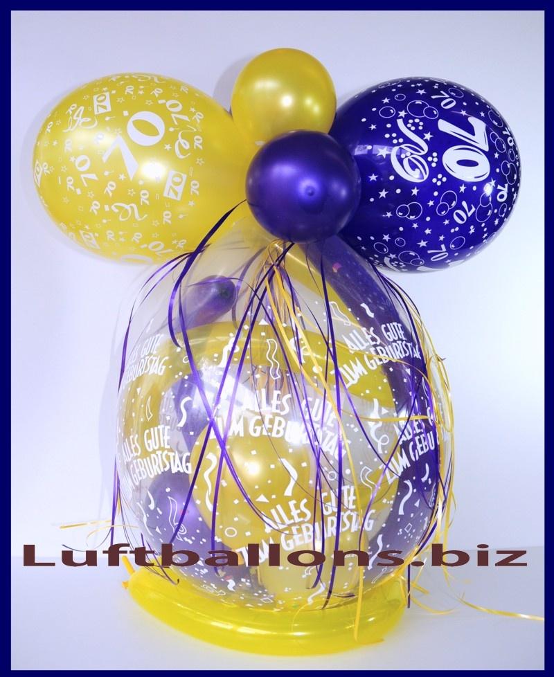 geschenkeballon luftballon verpackungsballon zum 70. Black Bedroom Furniture Sets. Home Design Ideas