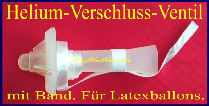Helium Verschluss Ventil mit Band für Luftballons aus Latex