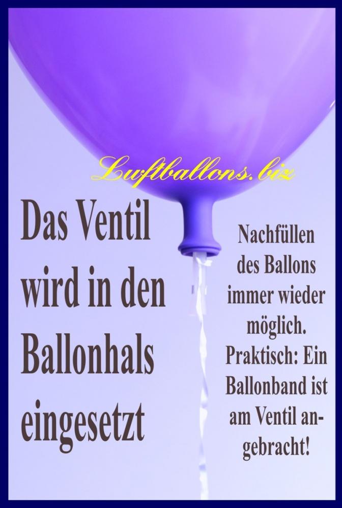 Helium-Verschlussventil mit Band im Luftballon
