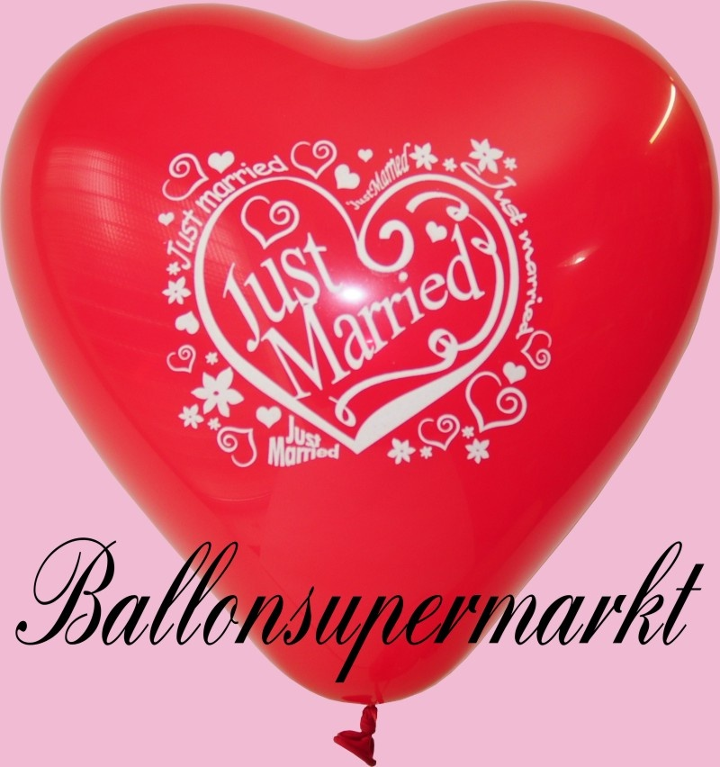 Herzluftballon Just Married