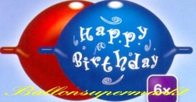 Ansicht der Kettenluftballons Geburtstag, Happy Birthday