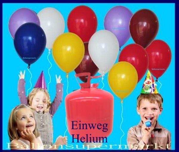 zum Kindergeburtstag Luftballons steigen lassen, kleine Luftballons gehen auf die Reise