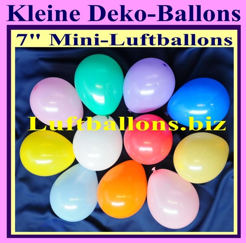 Kleine Luftballons in bunt gemischten Farben zur Dekoration, Mini-Deko ...