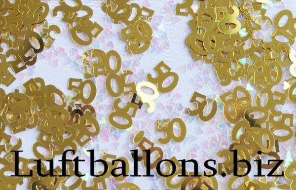 tischdekoration geburtstag konfetti zahl 50 gold lu geburtstag tischdekoration konfetti zahl. Black Bedroom Furniture Sets. Home Design Ideas