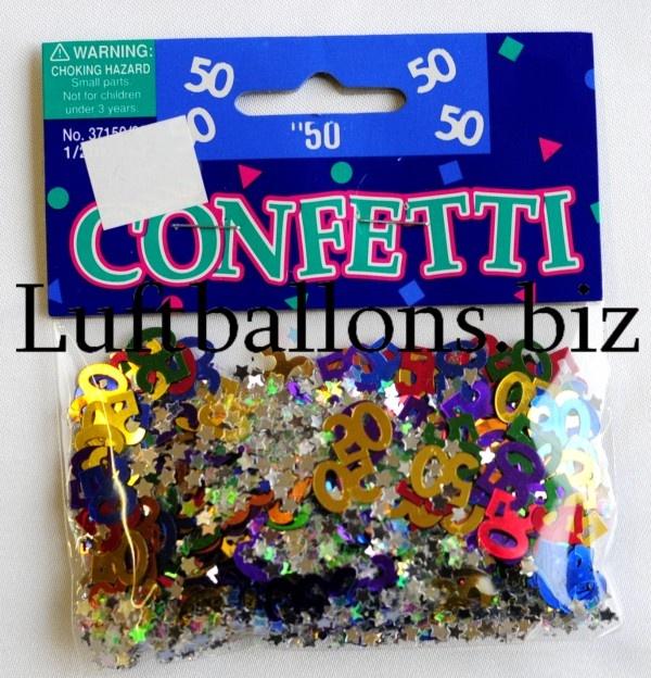 tischdekoration geburtstag konfetti zahl 50 bunt lu geburtstag tischdekoration konfetti zahl. Black Bedroom Furniture Sets. Home Design Ideas