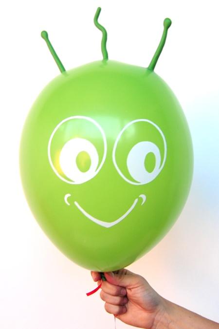 Dunkelgrüner Marsi Luftballon