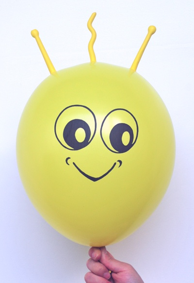 Gelber Marsi Luftballon