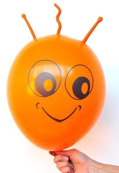 Marsi Luftballon in der Farbe Orange