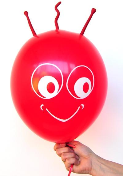 Marsi Luftballon in der Farbe Rot