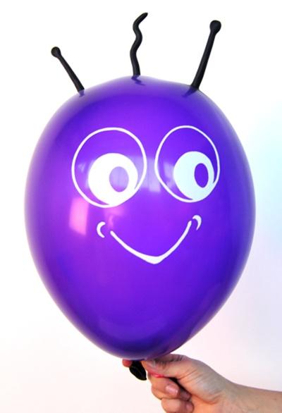 Marsi Luftballon in der Farbe Violett