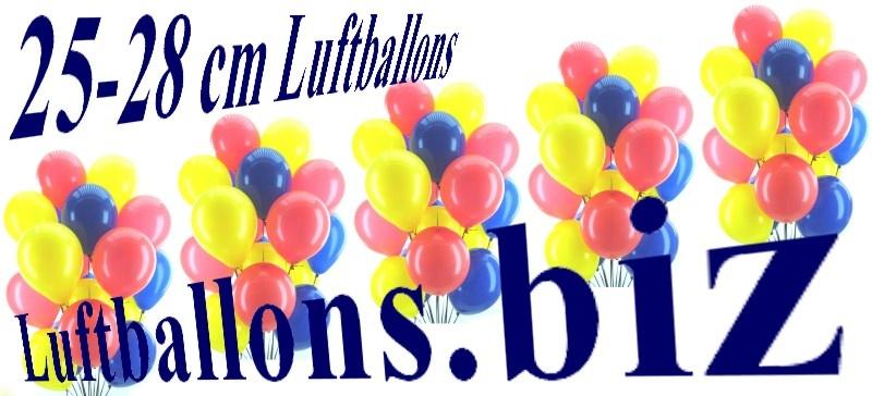 Luftballons aus Latex, 25-28 cm