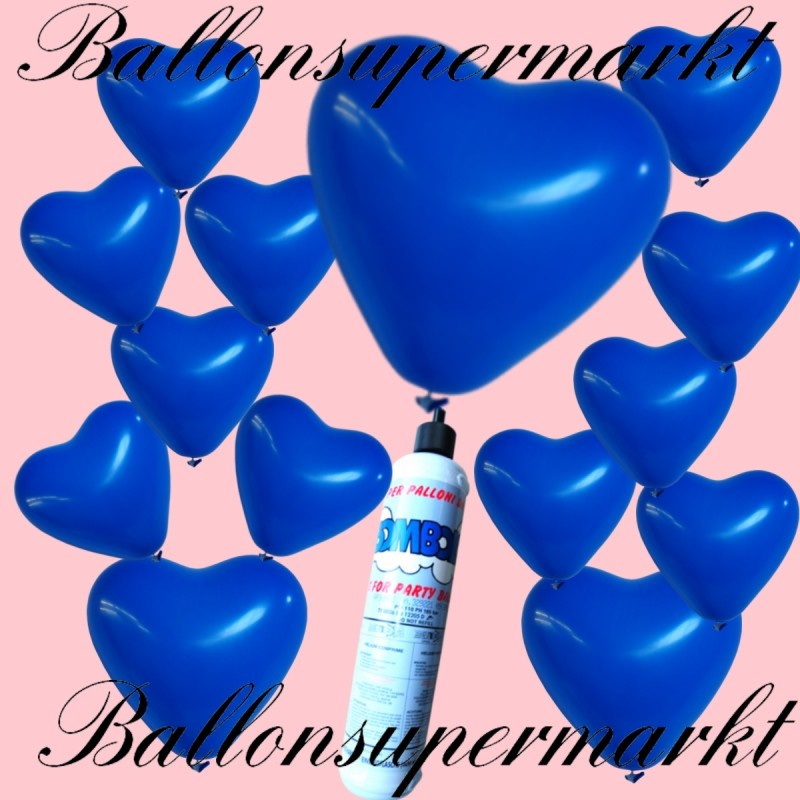 luftballons helium set miniflasche herzluftballons in blau lu luftballons helium mini set. Black Bedroom Furniture Sets. Home Design Ideas