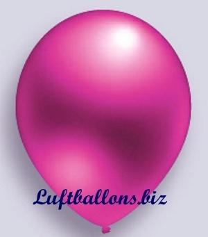 Deko Luftballon, Pink, Metallicfarben, S-2