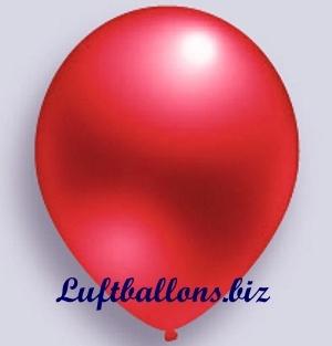 Deko Luftballon, Rot, Metallicfarben, S-2