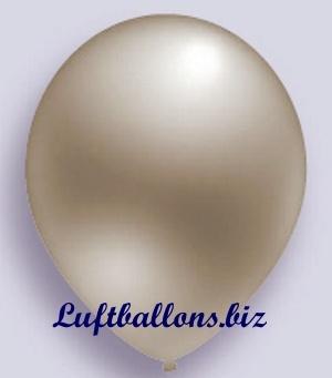 Deko Luftballon, Silber, Metallicfarben, S-2