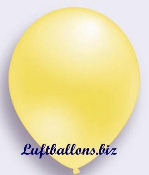 Deko Luftballon, gelb, Perlmuttfarben, S-2