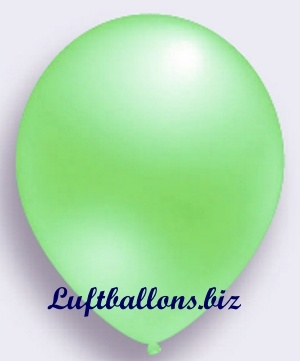 Deko Luftballon, grün, Perlmuttfarben, S-2