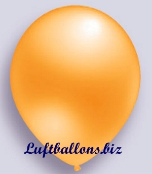 Deko Luftballon, orange, Perlmuttfarben, S-2