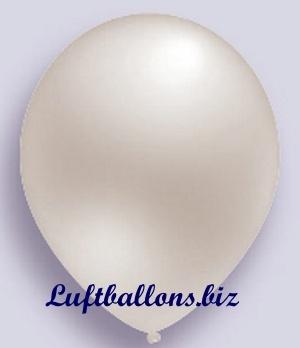 Deko Luftballon, weiß, Perlmuttfarben, S-2
