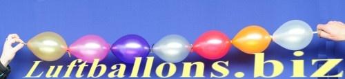 luftballongirlande aus mini girlanden-luftballons