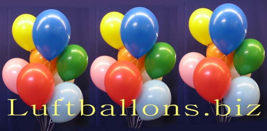 Luftballons für Heliumgas und Ballongas, Latex-Luftballons in 30 bis 33 cm