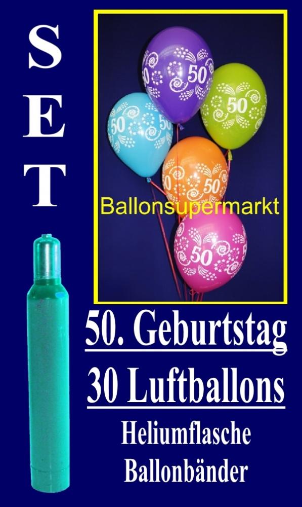 luftballons helium set zum 50 geburtstag 30 latex. Black Bedroom Furniture Sets. Home Design Ideas