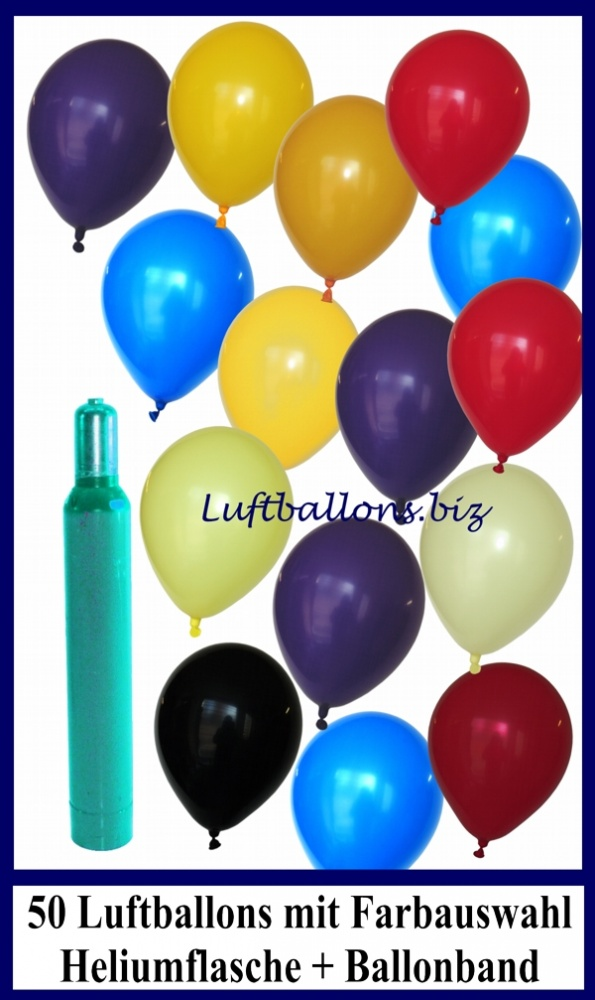 luftballons helium set 50 latex luftballons farbauswahl. Black Bedroom Furniture Sets. Home Design Ideas