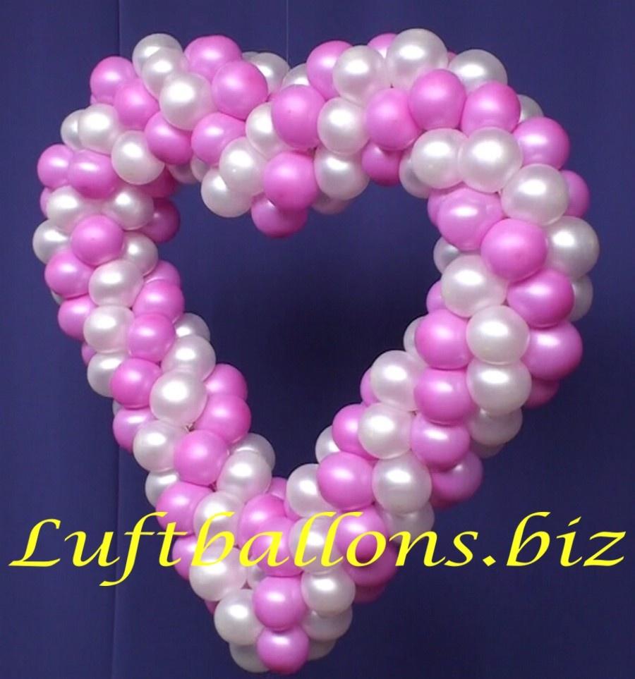 Herz Aus Luftballons Hochzeitsdekoration Lu Hochzeit Herz