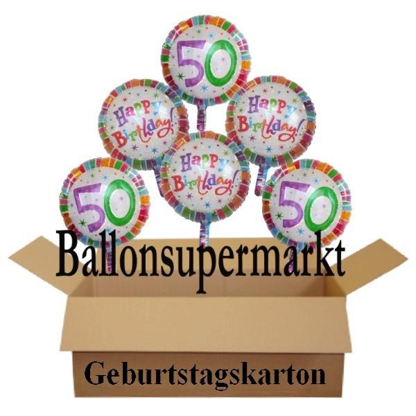 geburtstagsgeschenk luftballons mit helium im karton. Black Bedroom Furniture Sets. Home Design Ideas