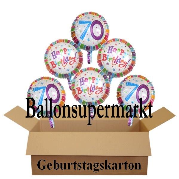 Geburtstagsgeschenk luftballons mit helium im karton - Dekoration zum 70 geburtstag ...