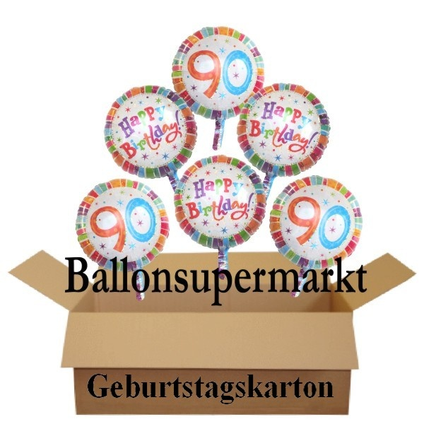 geburtstagsgeschenk luftballons mit helium im karton. Black Bedroom Furniture Sets. Home Design Ideas
