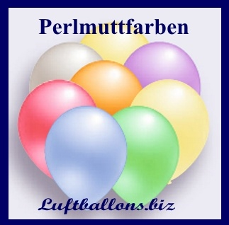 Deko Luftballons von Luftballons.biz, Perlmuttfarben, 75/85 cm, Serie 2