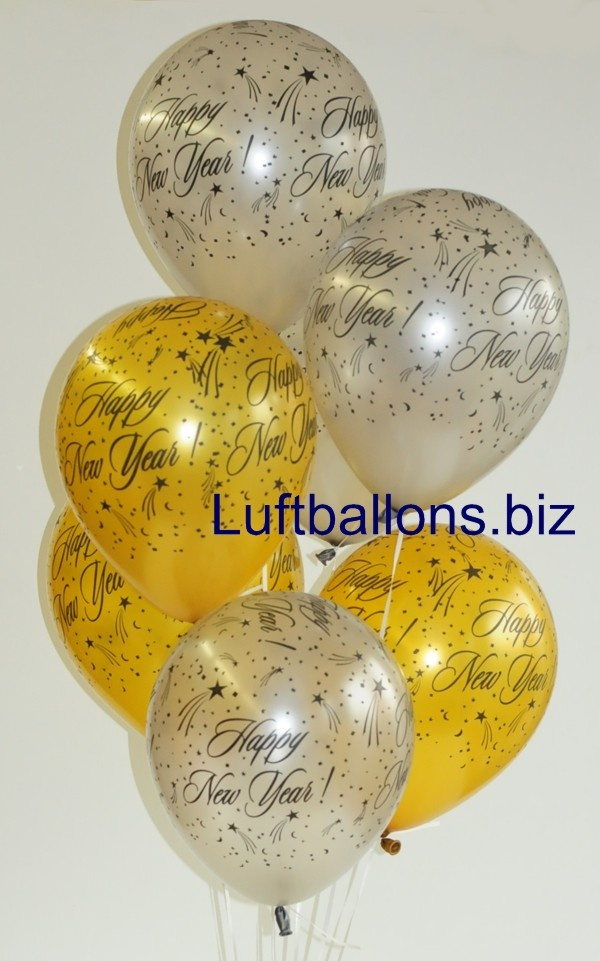 Silvester Ballons Happy New Year