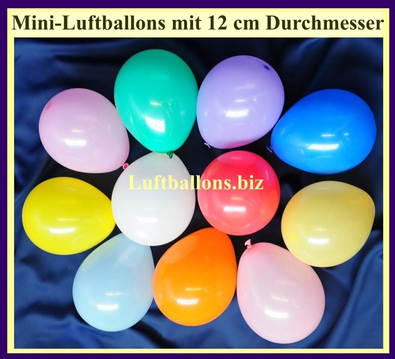 Kleine Luftballons, 12 cm, Rundballons aus Latex