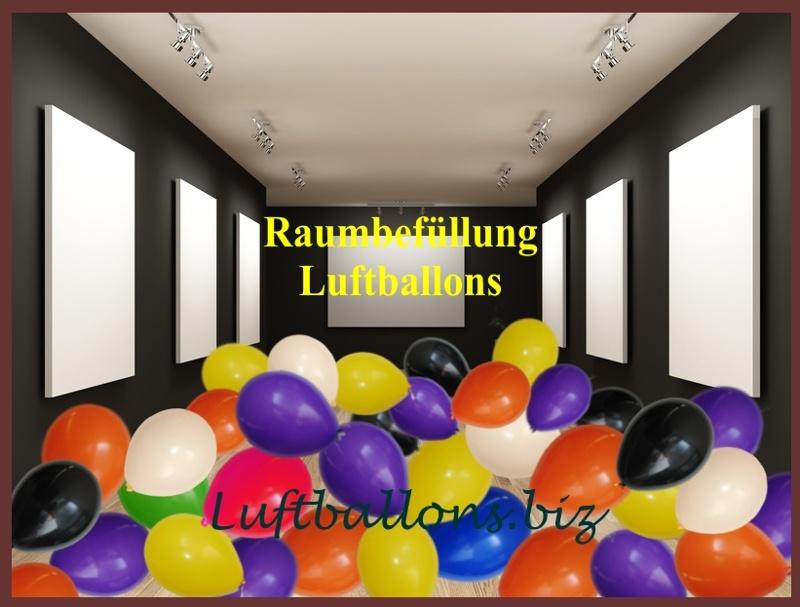 Raum mit Luftballons befüllt