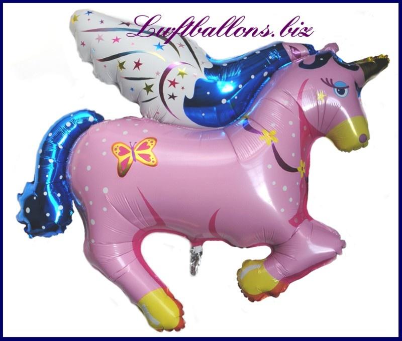 Großer Pegasus Luftballon in Pink