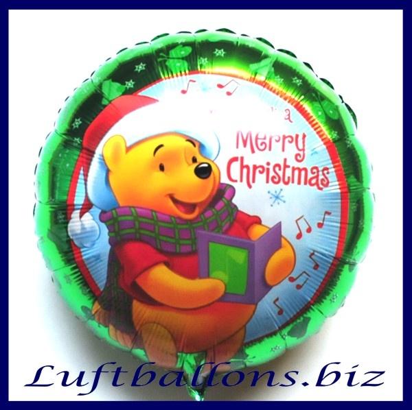 luftballon weihnachten winnie the pooh rundballon aus. Black Bedroom Furniture Sets. Home Design Ideas