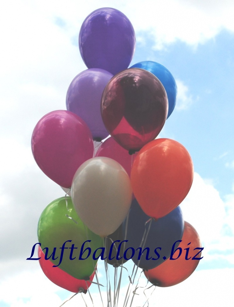 Luftballons aus Latex, 25 cm