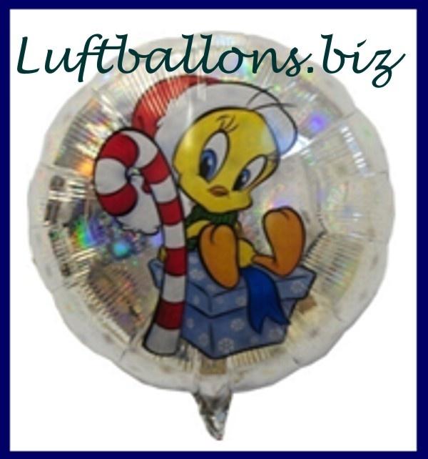 weihnachts luftballon tweety mit weihnachtsm tze lu. Black Bedroom Furniture Sets. Home Design Ideas